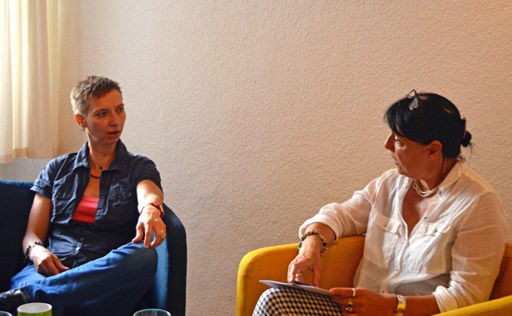 Gespräch im Beratungszentrum mit Halina Wawzyniak zur Reform des Sexualstrafrechts