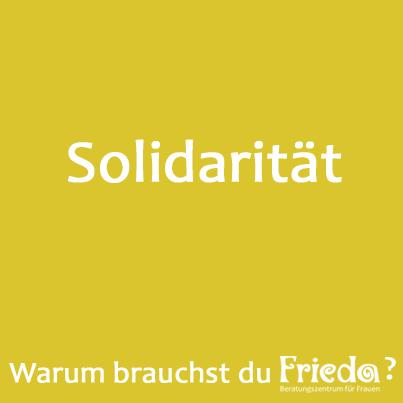 25 Jahre FRIEDA Solidarität Ⓒ FRIEDA