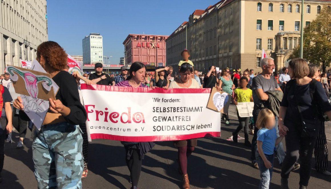 FRIEDA bei Unteilbar in Berlin