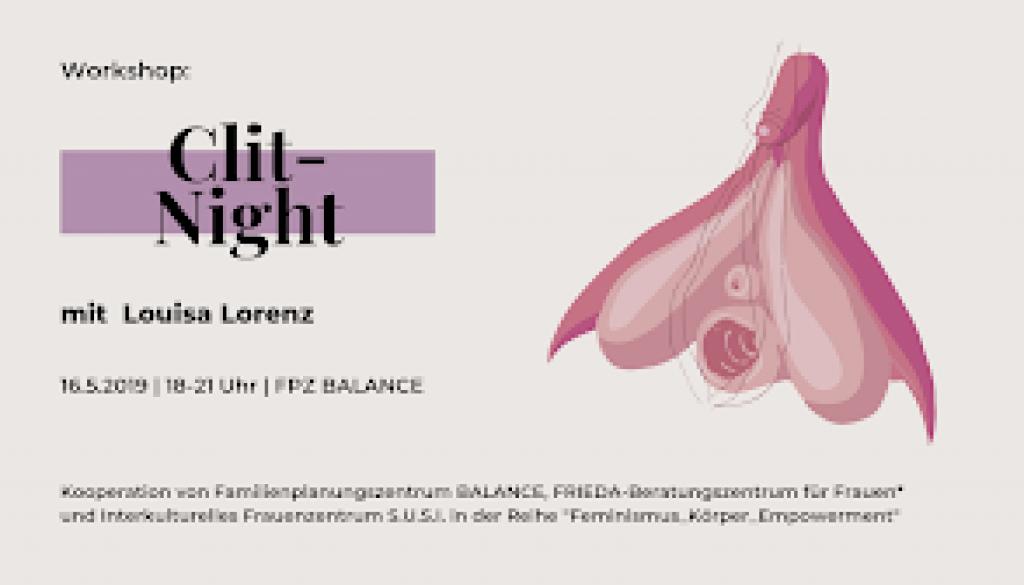 "Ankündigung ""Clit-Night"" am 16. Mai 2019"