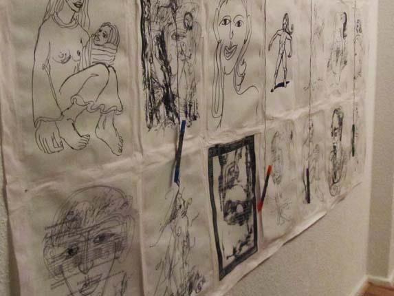 """Ausstellung """"In Bewegung"""" Malerei und Grafiken von Bildhauerin Johanna Martin bis 13. März 2012"""