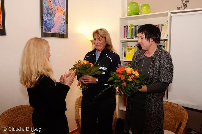 Blumen fuer die Referentinnen