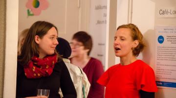 """FRIEDA Jubiläumsfeier und Vernissage """"Warum brauchst du FRIEDA?"""" am 8. Oktober 2015 © FRIEDA"""