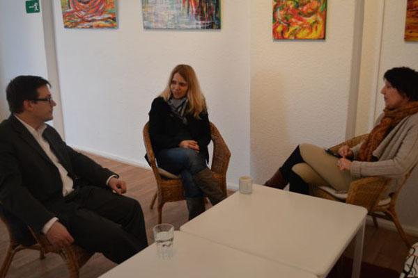 Besuch von Opferschutzbeauftragter Weber