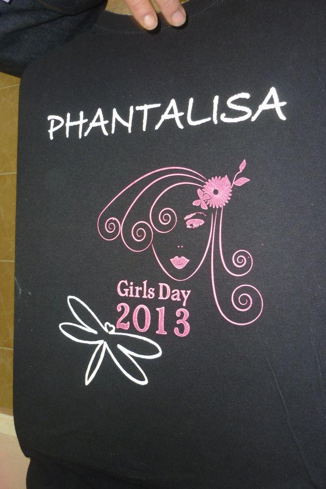 Siebdruck beim Girls Day 2013 © PHANTALISA
