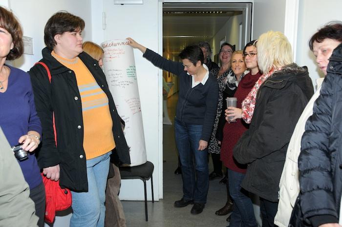 Bürgermeisterin Friedrichshain-Kreuzberg Frau Monika Herrmann: Eröffnung der Ausstellung und Relaunch der Website am 10. Dezember 2012 © Manuela Schneide